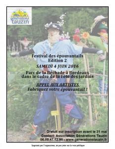 Affiche festival épouvantails